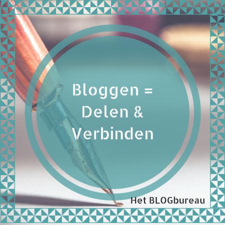 Bloggen is Delen en Verbinden