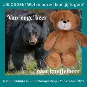 Blogworkshop - welke beren kom jij tegen bij het bloggen?