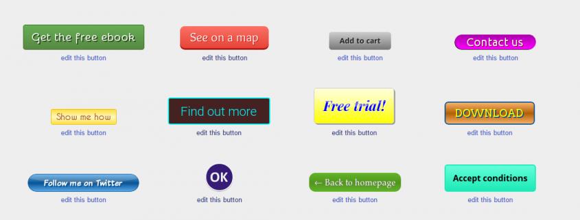 Button voorbeelden -Het Blogbureau