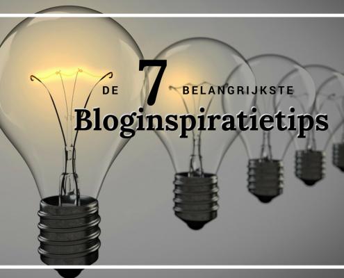 De 7 belangrijkste bloginspiratietips